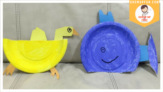Duck Whale Paper Plate Craft Grow Up Fun